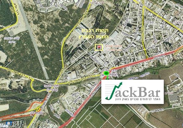 מפת גישה למכללת ג'קסר חיפה